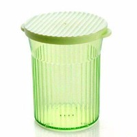 Glaring Wavy Cylinder House Using Plastic Storage Jar - Green