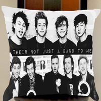 5 seconds of summer and one direction their not just a band to me pillow case one side or two side by mugxagrip