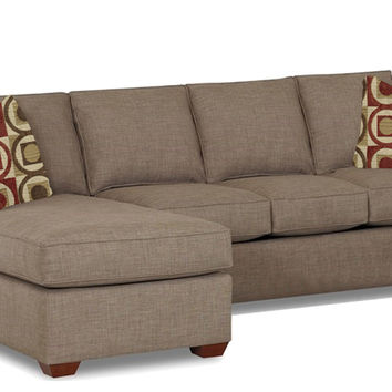 Palo Alto Chaise Sectional Full Sleeper Sofa by Savvy in Dumdum Stone