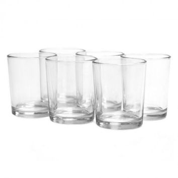 Koyal Wholesale Clear Glass Candle Holder (Set of 12) - Walmart.com