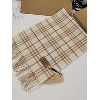 BURBERRY Men's and Women's Fashion Accessories Warm and Comfortable Cashmere Sweater Scarf Size: 180*30