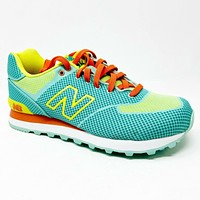 New Balance 574 Classics Elite Aquamarine Teal Lemon Pop WL574EAL Womens