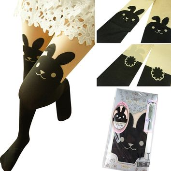 AM Landen® Japanese Sexy Bunny Rabbit Mock with TAIL TIGHTS Pantyhose