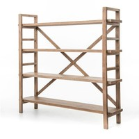 Alevina Large Bookshelf-Sundried Wheat