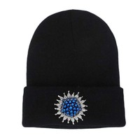 Women Winter Hats Knit Skullies Beanies Hat Pearl Decoration Outdoor Ski Cap Casual Girls Bonnet Gorros balaclava touca inverno