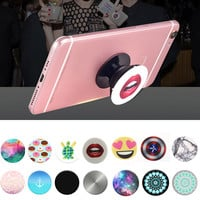 POP New Beautiful Finger Holder with Anti-fall Phone Smartphone Desk Stand Grip Socket Mount for Iphone Samsung Xiaomi Sockets