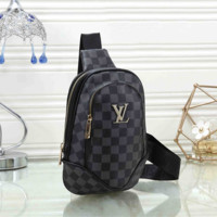Louis Vuitton LV Fashion Leather Chest Bag Crossbody Shoulder Bag