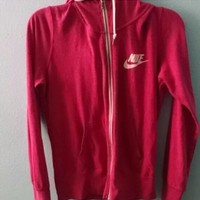 nike gym vintage zip up hoodie jacket-1