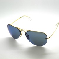 Tagre™ Cheap RAY BAN SunglaSSeS 3449 001/55 GOLD/BLUE MIRROR RayBan outlet