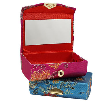 Embroidered Mirrored Stash Box