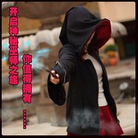 New Punk Witch Wizard Cosplay Costume Casual Black Jacket Hoodie Sweatshirt Coat Free shipping