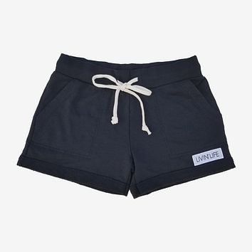 LIVIN' LIFE French Terry Short (Black)