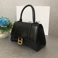 Balenciaga Fashion women New Monogram Print Leather Handbag Shoulder Bag Women Black