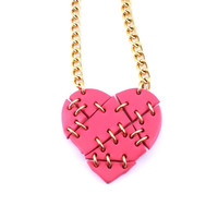 Small Shattered Heart Necklace