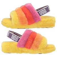 UGG New Fashion Women Fluff Yeah Leisure Keep Warm Slides Slippers