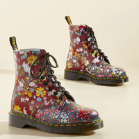 March Through Manhattan Leather Boot in Floral Medley