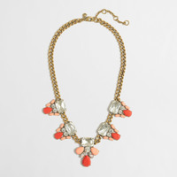 Factory crystal and stone clusters necklace : Necklaces | J.Crew Factory