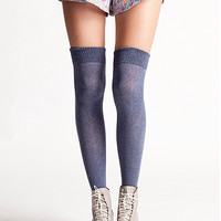 Over-The-Knee Socks in Blue Jean by Jessie Williams | Edge of Urge Collection