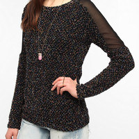 Lucca Couture Boucle Mix Tunic Sweater