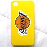 Sports Team iPhone 4 Plastic Hard Back Case Cover for iPhone 4g Lakers Case