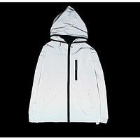 Spring/autumn Men sport outdoor windbreaker 3m reflective jacket casual hip hop jackets and coats without any logos manteau