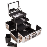 Brown Leopard Texture, Professional High Quality Makeup Case