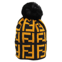 Fendi Autumn And Winter New Fashion More Letter Keep Warm Leisure Knit Women Men Cap Hat