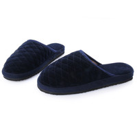 Lover Men Shoes Knit Plaid Cotton Plush Indoor Slippers New Casual Couple Home House Floor Slippers Man Pantufas