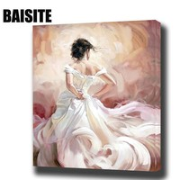 BAISITE DIY Framed Oil Painting By Numbers Figure Pictures Canvas Painting For Living Room Wall Art Home Decor E793