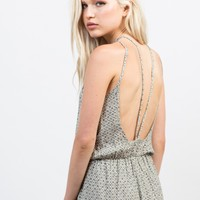 Light Gauze Printed Romper