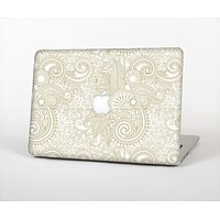 "The Tan & White Vintage Floral Pattern Skin Set for the Apple MacBook Pro 13""   (A1278)"