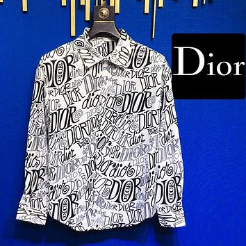 D1or 2020 early spring new shirt graffiti latest elements series black white