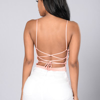 Sweet Intuition Bodysuit - Peach