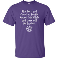 Annoy This Witch and There Will Be Trouble - Unisex T-Shirts in Assorted colors
