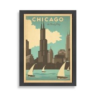 Americanflat Chicago Windy City Framed Wall Art