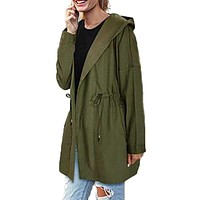 Fashion Womens Waterfall Army Military Hoody Hooded Tops Blusas Wnter Autumn Ladies Long Sleeve Solid Coat Jacket Outwear Macchar Cosplay Catalogue