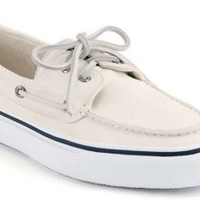 Sperry Top-Sider Bahama 2-Eye Boat Shoe White, Size 10.5M  Men's Shoes