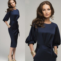 New Sexy Women's Summer Casual OL Business Party Evening Cocktail Midi Dress [9222638212]