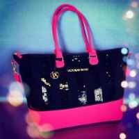 Victoria's Secret Glam Black Sequin Limited-Edition 2013 Tote Bag ($99.00 Value) + BONUS VS Decal