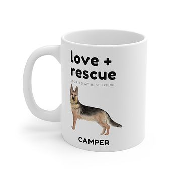 love + rescue Mug — German Shepherd