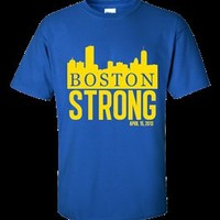 Customized: Boston Skyline Royal T-Shirt