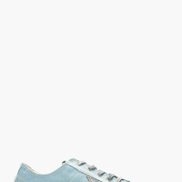 Golden Goose Light Blue Distressed V-star Sneakers