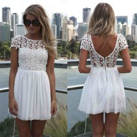 flower lace dress   Spoiled Rotton