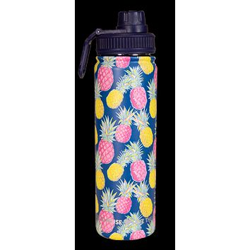Simply Southern Preppy Pineapple 22 oz Stainless Steel Water Bottle
