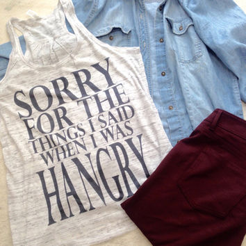 sorry for the things i said hangry tanks, workout tank top, workout tank, exercise tank, gym tank, workout, workout tanks, tank top trending