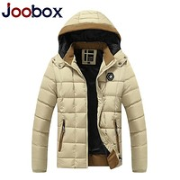 JOOBOX Brand 2017 New Mens Winter Jackets and Coats Thicken Warm jacket Hooded Cotton-Padded Male Fashion Clothing Hommer Parkas