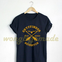 Gryffindor Shirt Gryffindor Quidditch Tshirt Harry Potter T Shirt Black Grey and Navy Color Unisex T-Shirt Series #2