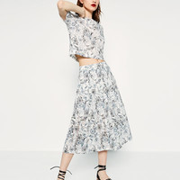 CUT WORK EMBROIDERED SKIRT