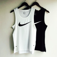 NIKE HOOK print fashion sleeveless vest top H-RELAX-XS