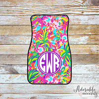 Monogrammed Lilly Pulitzer Inspired Car Mats